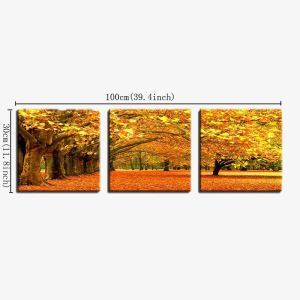 Frameless Oil Painting Fallen Leaves Modern Minimalist Canva 12
