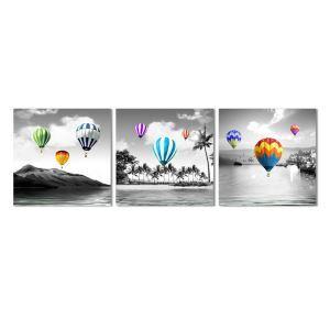 Frameless Oil Painting Hot Air Balloon Modern Minimalist Canva 12