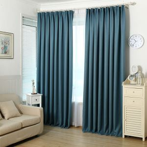 Blackout Curtain Modern Simple Solid Color Linen Curtain Decorative Bedroom Curtain