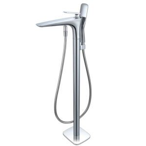 Floor Mounted Bathtub Faucet Chrome Hot and Cold AD/1314