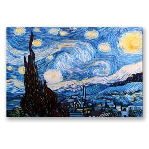 Frameless Oil Painting Starry Sky Modern Minimalist Canva 12