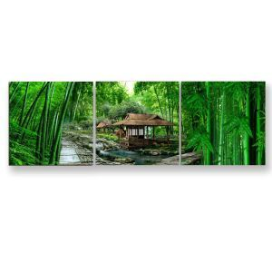 Frameless Oil Painting Bamboo Forest Modern Minimalist Canva 12