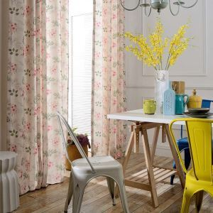 Modern Simple Curtain Fresh Flower Printed Curtain Bedroom Kids' Room Fabric(One Panel)