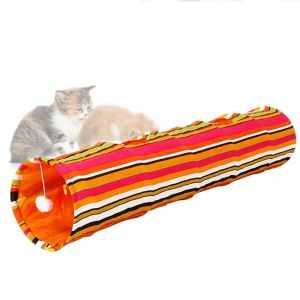 Cat Toy Colorful Stripes Cat Tunnel