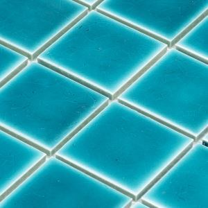 Porcelain Mosaic Tile Square Emerald Green Glossy 48x48mm