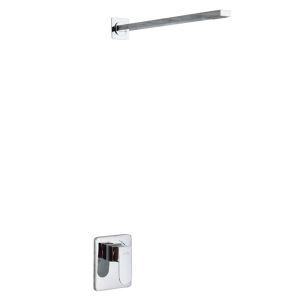 Bathroom Shower Faucet Set Chrome In-Wall Shower Tap