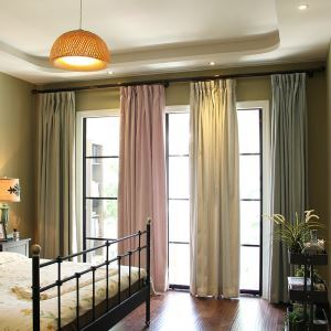 Nordic Simple Curtain Solid Insulated Blackout Curtain Bedroom Versatile Fabric(One Panel)
