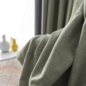 Modern Simple Curtain Solid Waterproof Curtain Living Room Office Blackout Fabric(One Panel)