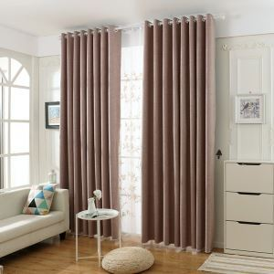 Modern Simple Curtain Unique Solid Pink Curtain Waterproof Blackout Fabric(One Panel)