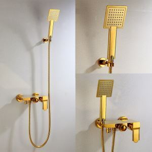 Hand Shower Ti-PVD Bathroom Shower Faucet Set