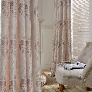 European Simple Curtain Pink Jacquard Curtain UV-anti Fabric(One Panel)