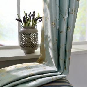 Japanese Simple Curtain Vine Jacquard Curtain Green Fresh Breeze Fabric(One Panel)