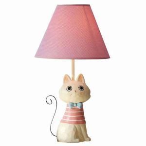 Modern Simple Creative Iron Tail Cat Lamp Linen Shade
