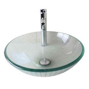 Modern Fashion Round Transparent Tempered Glass Basin