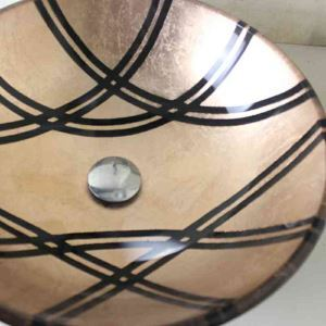 Modern Fashion Round Yellow-Brown Tempered Glass Basin
