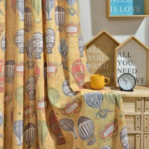 American Cartoon Curtain Insulated Cotton Curtain Kid's Room Printed Fabric(One Panel)
