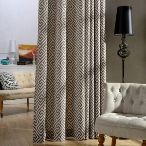 Nordic Simple Curtain Maze Printed Curtain Uv-proof Living Room Fabric(One Panel)