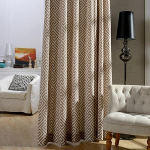 Nordic Simple Curtain Unique Printed Curtain Environment-friendly Study Fabric(One Panel)