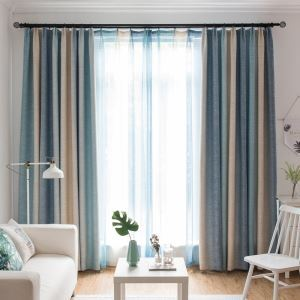Modern Blackout Curtain Gradient Printed Three-layer Woven Blackout Fabric(One Panel)