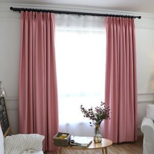 Nordic Style Chenille Black Silk Blackout Custom Finished Curtains Living Room Curtains