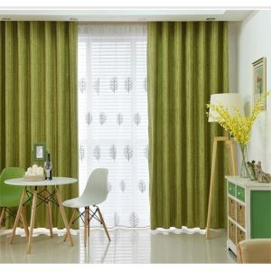 Modern Simple Solid Color Chenille Jacquard Stripes Advanced Custom Curtains Living Room Dining Room Curtains