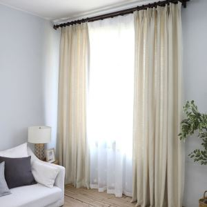 Modern Simple Solid Color Cotton Thicken Curtain Advanced Custom Curtains
