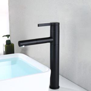 Pull-Down Sprayer Sink Faucet Matt Black Basin Tap