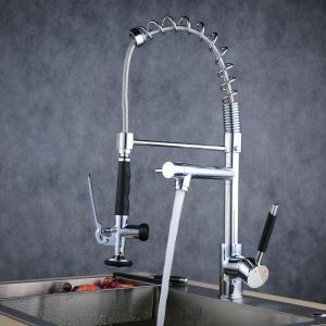 Pull-Down Sprayer Kitchen Faucet Chrome Single Handle Faucet BL0782