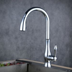 Pull-Down Sprayer Kitchen Faucet Chrome Single Handle Faucet BL1731
