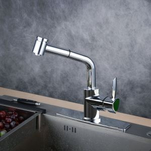 Pull-Down Sprayer Kitchen Faucet Chrome Single Handle Faucet BL1747