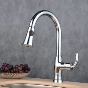 Pull-Down Sprayer Kitchen Faucet Chrome Single Handle Faucet BL7081