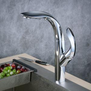 Pull-Down Sprayer Kitchen Faucet Chrome Single Handle Faucet BL8803