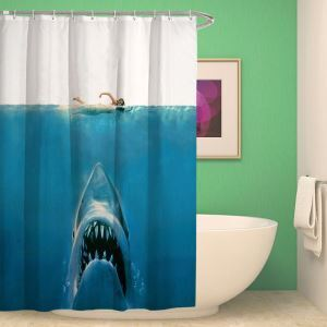 Waterproof Mouldproof Shower Shark Pattern Shower Curtain Curtain Deep-sea Animal Design(One Panel)