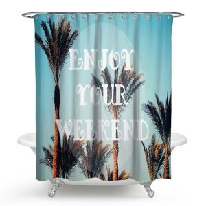 Original Modern Shower Curtain Branch Printed Shower Curtain Waterproof Polyester Fabric(One Panel)