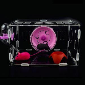 Little Pet Deluxe Villa Acrylic Hamster Cage Transparent Breathable Castle