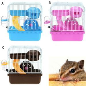 Pet Cage Hamster Two Floors Cage Hamster Mushroom House