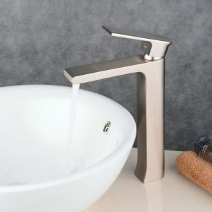 Contemporary Sink Faucet Nickel Brushed Sink Faucet Single Handle Tap BL6308HN