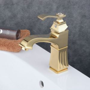Contemporary Sink Faucet Ti-PVD Sink Faucet Single Handle Tap BL6311G