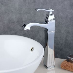 Contemporary Sink Faucet Chrome Polished Sink Faucet Single Handle Tap BL6311H