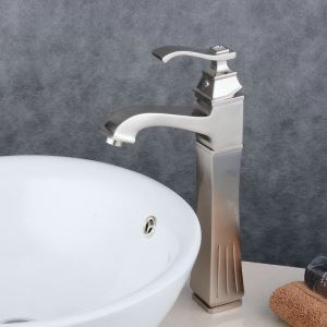 Contemporary Sink Faucet Nickel Brushed Sink Fuacet Single Handle Tap BL6311HN