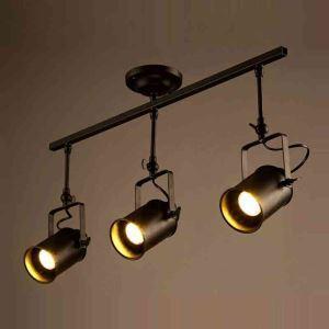Retro Stoving Varnish Long Fixture Spot Light 3-light
