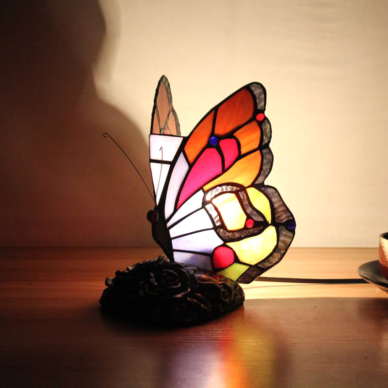 Animal Lamp Animal Style Butterfly Tiffany Lamp