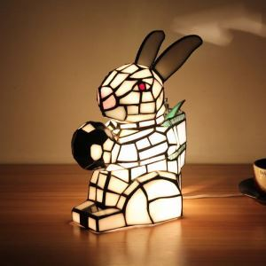 Animal Lamp Animal Style Rabbit Tiffany Table Lamp