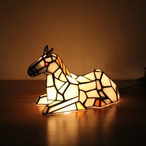 Animal Lamp Animal Style White HoseTiffany Table Lamp