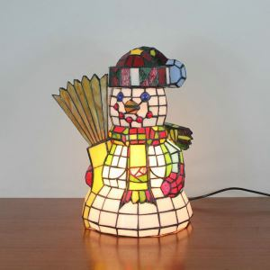 Animal Lamp Animal Style Snowman Tiffany Table Lamp