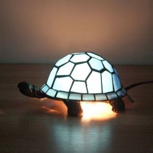 Animal Lamp Animal Style Tortoise Tiffany Table Lamp Blue