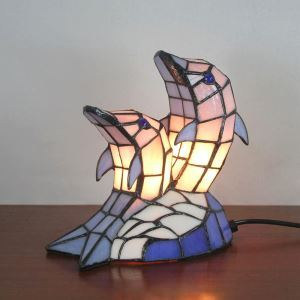 Animal Lamp Animal Style Dolphin Tiffany Table Lamp
