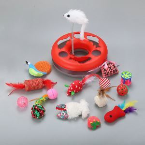 Cat Ball Toy Set Kitten Sisal Playboard