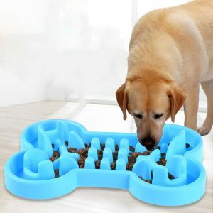 Dog Anti-choke Bowl Eating Slowly Feeder Skidproof Bowl
