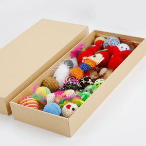 Cat Toy Set Plsatic Bell Ball Mouce Sisal Ball